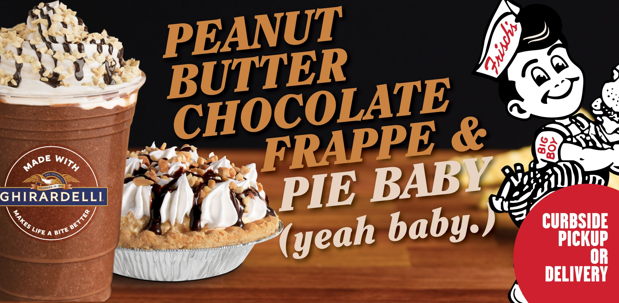 Peanut Butter Chocolate Frappe and Pie Baby